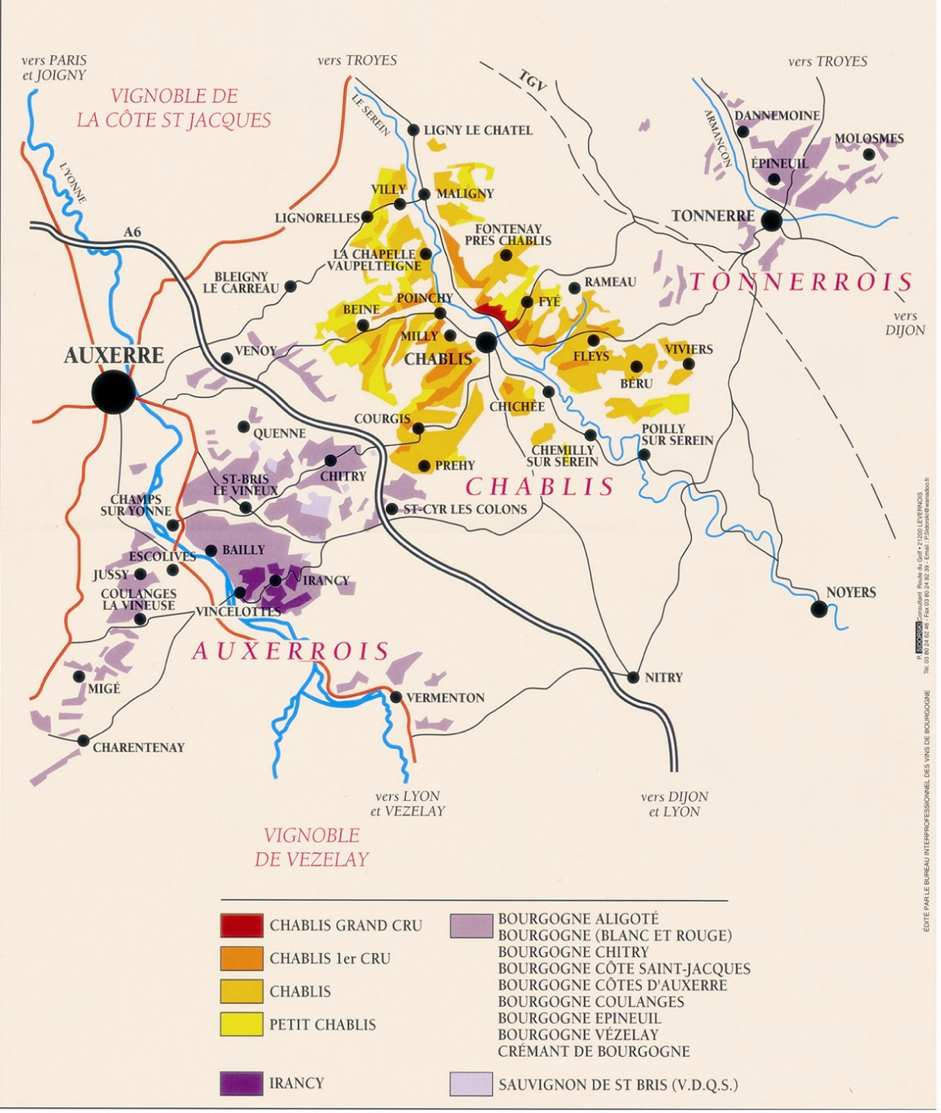 Chablis France Map.Back To France Off To Chablis Thursday Howard W Hewitt