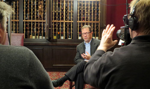 The interview was conducted at Indy's Capitol Grille at the Conrad Hotel.