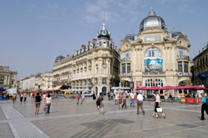 Place de Comedie, the city center of Montpellier