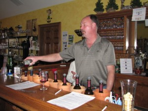 Jeff Durm pours in his tasting room. Yahoo.com Photo