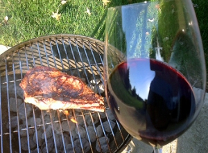 Think BIG - Cabernet - for charred steak!