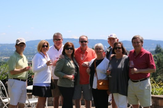 My first Grape Sense wine tourism group at Lange Winery in Oregon's Willamette Valley