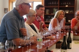 Members of our group tasting Jesse Lange's three soil series Pinots.