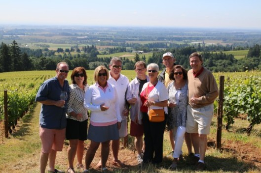 Our group in front of the oldest block of vineyard at Domaine Drouhin
