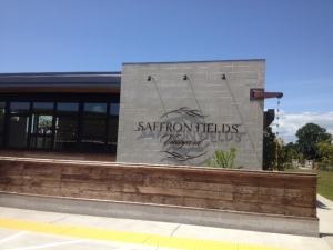 Saffron Fields' very cool tasting room.