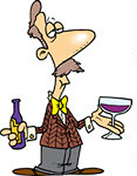 437479-Royalty-Free-RF-Clip-Art-Illustration-Of-A-Cartoon-Male-Wine-Taster