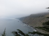 The morning foggy view down the coast of Big Sur