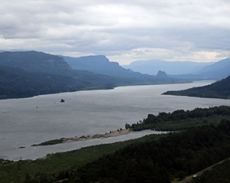 The stunning Columbia River Gorge.