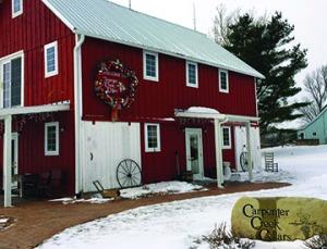 Hopwood Cellars tasting room in converted barn.