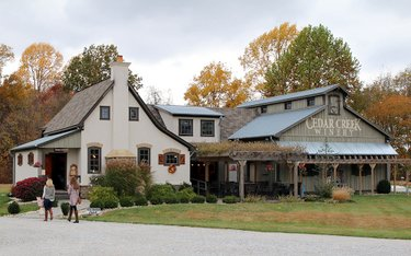 Cedar Creek Winery just off 37 near Martinsville.